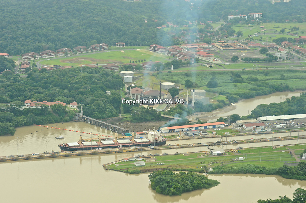 Container ship. Panama Canal.