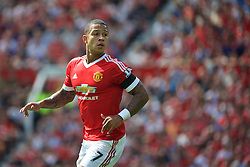 MANCHESTER, ENGLAND - Saturday, August 8, 2015: Manchester United's Memphis Depay in action against Tottenham Hotspur during the Premier League match at Old Trafford. (Pic by David Rawcliffe/Propaganda)