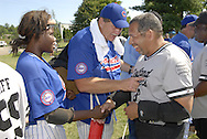 This photo © Ken Blaze, 2006...Shot at the 2006 Beep Babseball World Series in Cleveland, Ohio.