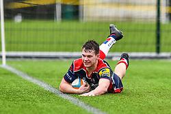 Will Hines of Bristol Academy U18 scores his sides second try - Mandatory by-line: Craig Thomas/JMP - 03/02/2018 - RUGBY - SGS Wise Campus - Bristol, England - Bristol U18 v Harlequins U18 - Premiership U18 League