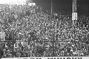 Crowds of supporters in the stands during the All Ireland Senior Gaelic Football Final, Kerry v Dublin in Croke Park on the 28th September 1975. Kerry 2-12 Dublin 0-11.