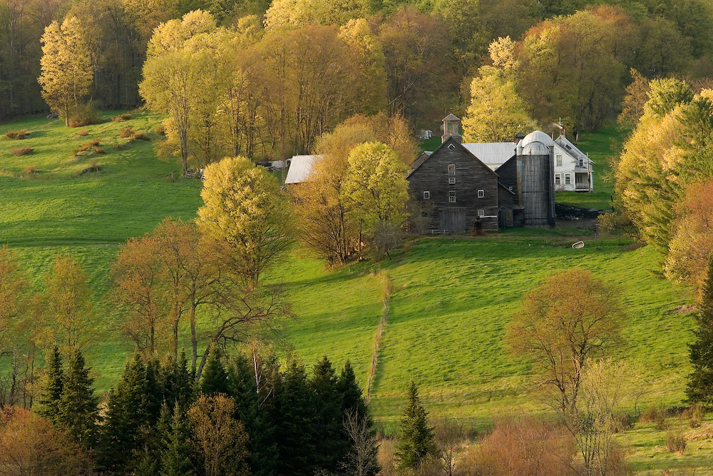 Farm in East Montpelier, Vermont during Spring