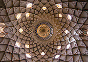Stunning photographs reveal the beautiful ceilings in Iran's mosques, bazaars and public baths<br /> <br /> For the past few decades, restrictions on travel to Iran has meant the country has been largely shut off from the Western world, but as visa sanctions are lifted in the light of a landmark nuclear deal, the local tourism industry is hoping for a flurry of visitors.<br /> It's not hard to see why Iran is listed as one of the top travel destinations of 2016, with its rich culture and history. <br /> Among the standout aspects of the nation is its beautiful ancient architecture, with the cities and towns littered with ornate and eye-catching mosques, public baths and markets. <br /> And unlike many other countries - the roof is not an afterthought, with many ceilings built as the centrepiece to the building, with many of the tile designs showcasing a display of intricate geometric patterns that date back several centuries. <br /> French photographer Eric Lafforgue has travelled the country photographing the ceilings of indoor markets, mosques and bath houses. <br /> <br /> Photo shows: Ceiling With Its Intricate And Elaborate Patterns And Internal Stainless Glass Dome The Boroujerdi House