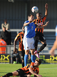 Barnets Mauro Vilhete holds of Eastleighs Craig Mcallister, Barnet v Eastleigh, Vanarama Conference, Saturday 4th October 2014