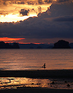 Sunset on Phang Nga Bay/Andaman Sea, Thailand.
