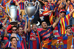 06-06-2015 GER: UEFA Champions League final Juventus - Barcelona, Berlin<br /> FC Barcelona mit der Trophae during the UEFA Champions League final match between Juventus FC and Barcelona FC at the Olympia Stadion in Berlin<br /> <br /> ***NETHERLANDS ONLY***