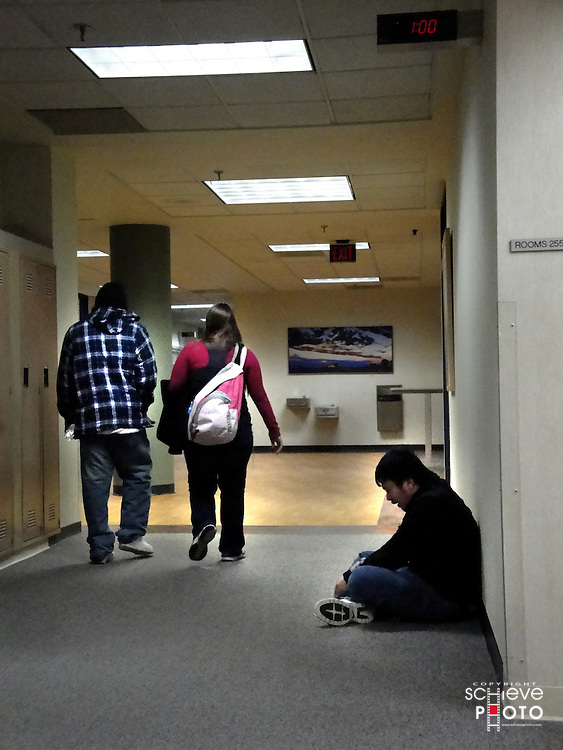 Technical school hallway.