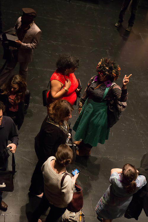 "Members of the audience after the performance of ""Dread Scott Decision"" at BAM."