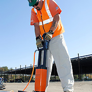 02, 6102, Construction, DSC0044, Equipment, tools, pneumatics, Nail, Gun, Worker, Laborer, hardhat