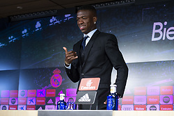 July 20, 2018 - Madrid, Spain - Vinicius Jr during press conference of his presentation as new Real Madrid player at Santiago Bernabéu Stadium in Madrid, Spain. July 20, 2018. (COOLMEDIA/BorjaB.Hojas) (Credit Image: © Coolmedia/NurPhoto via ZUMA Press)
