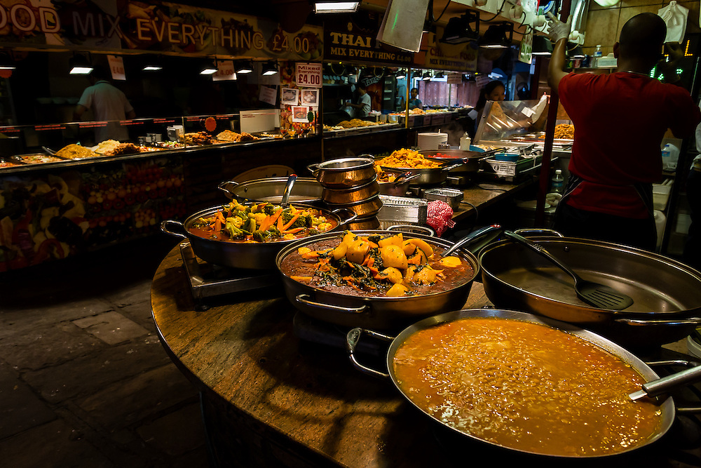One of the many food stalls at Camden Lock.