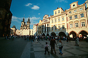 Tyn Church and Old Town Square (Staromestske Namesti).