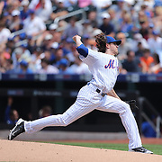 Pitcher Jacob deGrom, New York Mets, pitching during the New York Mets Vs Los Angeles Dodgers MLB regular season baseball game at Citi Field, Queens, New York. USA. 26th July 2015. Photo Tim Clayton