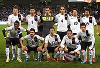 Fotball<br /> VM-kvalifisering<br /> 26.03.2013<br /> Irland v Østerrike<br /> Foto: Gepa/Digitalsport<br /> NORWAY ONLY<br /> <br /> FIFA Weltmeisterschaft 2014 in Brasilien, Qualifikation, OEFB Laenderspiel, Irland vs Oesterreich. Bild zeigt die Mannschaft von AUT mit Marko Arnautovic, Aleksandar Dragovic, Heinz Lindner, Emanuel Pogatetz, Philipp Hosiner und Veli Kavlak (hinten von links); David Alaba, Gyoergy Garics, Martin Harnik, Christian Fuchs und Zlatko Junuzovic (AUT/ vorne).<br /> Lagbilde Østerrike