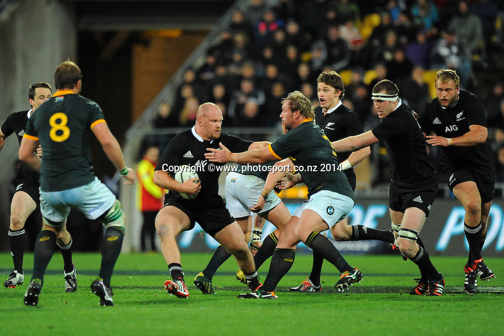 All Black Ben Franks during the Rugby Championship Rugby Union Test Match New Zealand All Blacks v South Africa. Westpac Stadium, Wellington, New Zealand. Saturday 13 September 2014. Photo: Chris Symes/www.photosport.co.nz