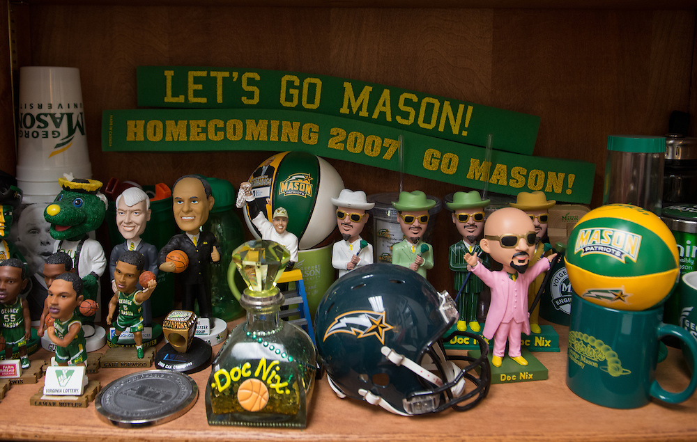 December 5, 2015 - Fairfax, VA - A day in the life of &quot;Doc Nix,&quot; aka Dr. Michael Nickens, the Director of the Athletic Bands for George Mason University. Doc Nix's office at George Mason.<br /> <br /> <br /> Photo by Susana Raab