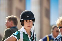 SPRINGSTEEN Jessica (USA)<br /> Berlin - Global Jumping Berling 2018<br /> Parcoursbesichtigung<br /> CSI5* Preis der Deutsche Vermögensberatung<br /> 1. Wertung für Global Champions League<br /> 27. Juli 2018<br /> © www.sportfotos-lafrentz.de/Stefan Lafrentz