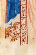 Fresken in der Chapelle Saint-Calixte, Mons, Hennegau, Wallonie, Belgien, Europa   frescoe in the Chapelle Saint-Calixte, Mons, Hennegau, Wallonie, Belgium, Europe