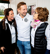 8-2-2019 AMSTERDAM - Prince Bernhard, Princess Annette and Princess Margriet during the kick-off of the fifth edition of De Hollandse 100, an initiative of Lymph & Co. The goal of the Lymph & Co foundation is to fund fundamental research into the nature and treatment of lymphoma. ROBIN UTRECHT