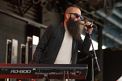 July 1, 2018 - Milwaukee, Wisconsin, U.S - SEBU SIMONIAN of Capital Cities performs live at Henry Maier Festival Park during Summerfest in Milwaukee, Wisconsin (Credit Image: © Daniel DeSlover via ZUMA Wire)