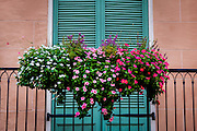This is a balcony in the French Quarter of New Orleans. ©Kathy Anderson, All Rights Reserved