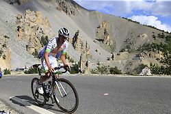 Romain Hardy (FRA) Fortuneo-Oscaro climbs through the Caisse Deserte on Col d'Izoard during Stage 18 of the 104th edition of the Tour de France 2017, running 179.5km from Briancon to the summit of Col d'Izoard, France. 20th July 2017.<br /> Picture: Eoin Clarke | Cyclefile<br /> <br /> All photos usage must carry mandatory copyright credit (© Cyclefile | Eoin Clarke)