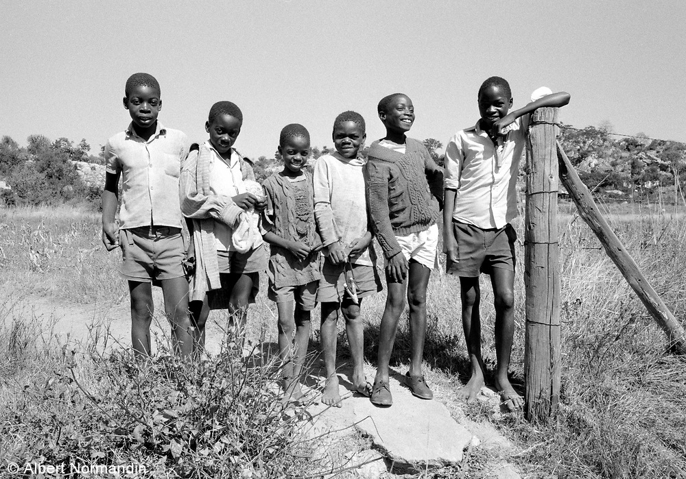 Young boys hanging around on side of road 8