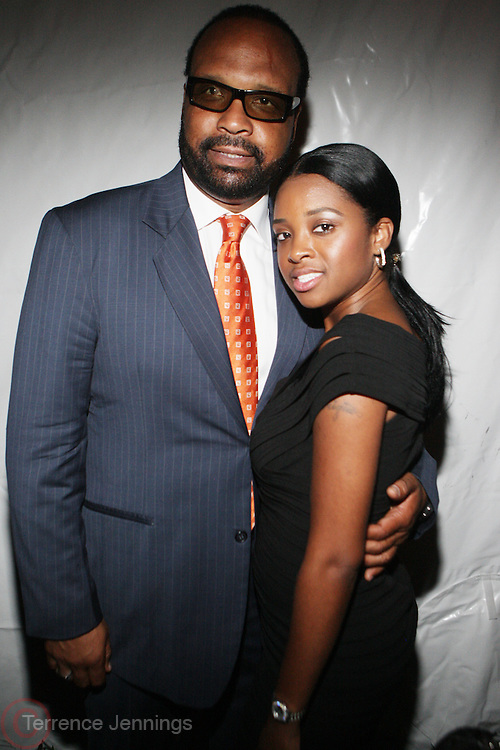 14 June 2010- Harlem, New York- l to r: Donald Coleman and Tamika Mallory at The Apollo Theater's 2010 Spring Benefit and Awards Ceremony hosted by Jamie Foxx inducting Aretha Frankilin and Michael Jackson, and honoring Jennifer Lopez and Marc Anthony co- sponsored by Moet et Chandon which was held at the Apollo Theater on June 14, 2010 in Harlem, NYC. Photo Credit: Terrence Jennngs/Sipa