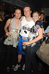 Left to right, JESSICA CRAIG, HUGH CROSSLEY and MARINA BUSSE at the weigh-in party for the Boodles Boxing Ball held at Kitts 7-12 Sloane Square, London on 29th May 2008.<br /> <br /> NON EXCLUSIVE - WORLD RIGHTS
