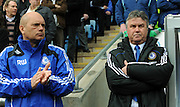 Chelsea manager Guus Hiddink watches from the sidelines with Assistant Ray Wilkins during the FA Cup Sponsored by E.ON 6th round match between Coventry City and Chelsea at the Ricoh Arena on March 7, 2009 in Coventry, England.
