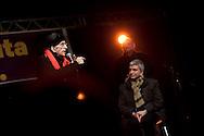 Don Andrea Gallo e Nichi Vendola. Milano, Leoncavallo, 15 febbraio 2013.