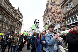 An Extinction Rebellion on climate change took place on North Bridge, Edinburgh pic copyright: Terry Murden @edinburghelitemedia