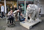 Duitsland, Trier, 21-10-2013Stad in de Eifel met rijke romeinse geschiedenis. Olifant,kunst,kunstwerk,goed doel,preservation,elephant,behoud,beschermen,Foto: Flip Franssen/Hollandse Hoogte