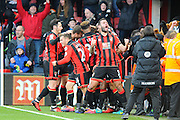 AFC Bournemouth defender Steve Cook celebrates the Nathan Ake of AFC Bournemouth winning goal which made the score 4-3 during the Premier League match between Bournemouth and Liverpool at the Vitality Stadium, Bournemouth, England on 4 December 2016. Photo by Graham Hunt.