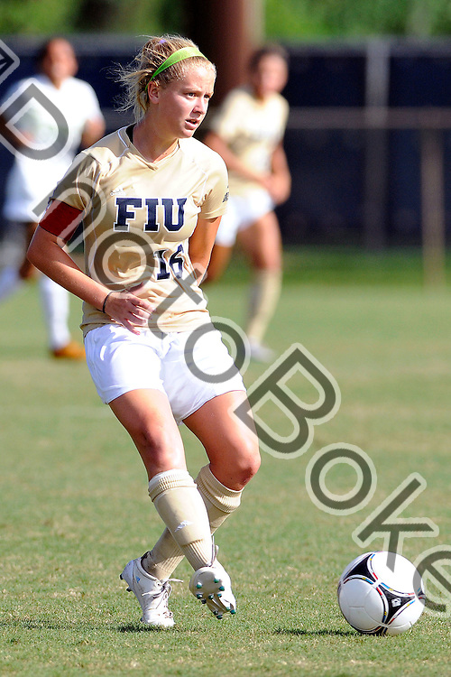 2012 August 19 - FIU's Nicole DiPerna (16). Florida International University Golden Panthers defeated the Jacksonville Dolphins at the FIU Soccer Pitch, Miami, Florida. (Photo by: www.photobokeh.com / Alex J. Hernandez) This image is copyright PhotoBokeh.com and may not be reproduced or retransmitted without express written consent of PhotoBokeh.com. ©2012 PhotoBokeh.com - All Rights Reserved