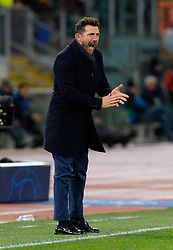 November 27, 2018 - R, Italy - Eusebio Di Francesco during the UEFA Champions League match group G between AS Roma and Real Madrid FC at the Olympic stadium on november 27, 2018 in Rome, Italy. (Credit Image: © Silvia Lore/NurPhoto via ZUMA Press)