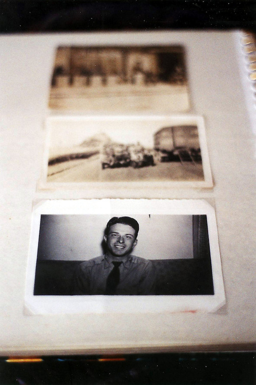 In Bill Coleman's flat in Normandy. Bill was an American D-Day veteran. Here is his photo album. He died in July 2005. He was 81.