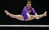 Roxana Popa Nedelcu of Spain competes on the Uneven Bars during the women's all around final at the Artistic Gymnastics World Championships in Antwerp, Belgium, 04 October 2013.