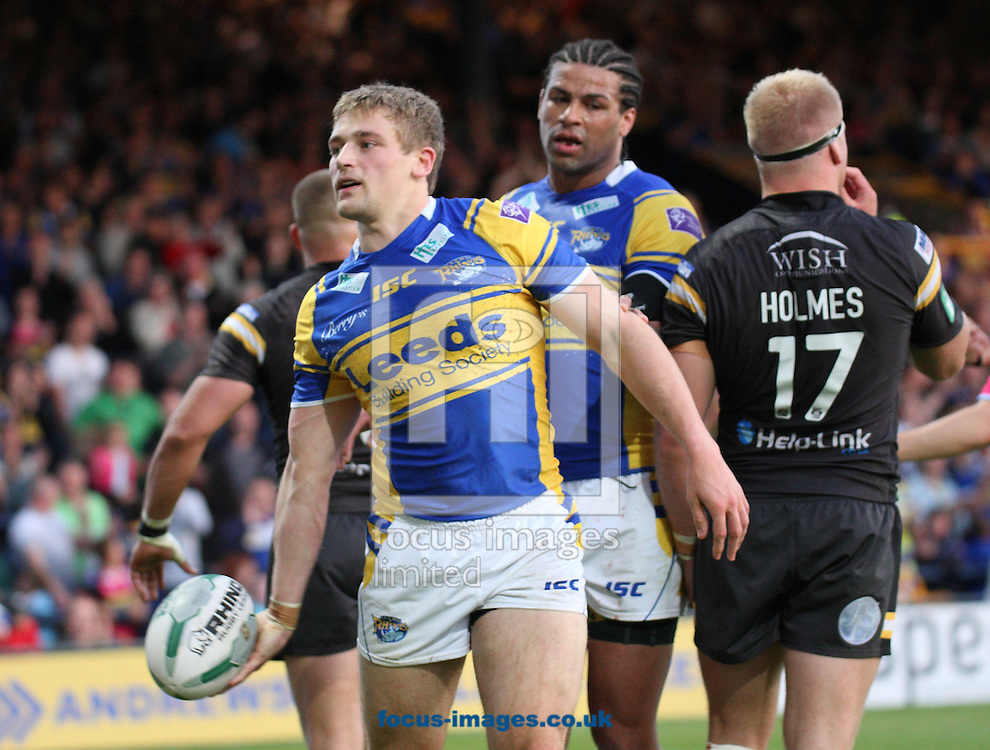 Picture by Stephen Gaunt/Focus Images Ltd +447904 833202<br /> 07/06/2013<br /> Jimmy Keinhorst (c) of Leeds Rhinos celebrates  after scoring against Castleford Tigers during the Super League match at Headingley Carnegie Stadium, Leeds..