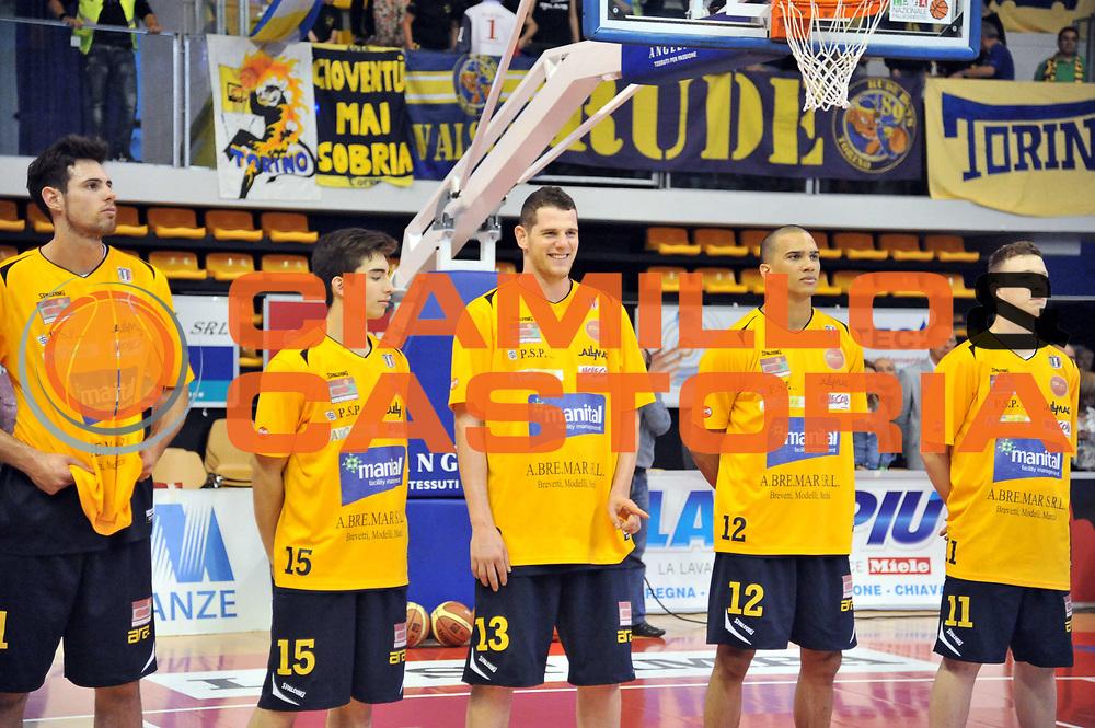 DESCRIZIONE : Biella LNP DNA Adecco Gold 2013-14 Angelico Biella Manital Torino Playoff Quarti di Finale<br /> GIOCATORE : Valerio Amoroso<br /> CATEGORIA : Presentazione<br /> SQUADRA : Manital Torino<br /> EVENTO : Campionato LNP DNA Adecco Gold 2013-14<br /> GARA : Angelico Biella Manital Torino<br /> DATA : 06/05/2014<br /> SPORT : Pallacanestro<br /> AUTORE : Agenzia Ciamillo-Castoria/S.Ceretti<br /> Galleria : LNP DNA Adecco Gold 2013-2014<br /> Fotonotizia : Biella LNP DNA Adecco Gold 2013-14 Angelico Biella Manital Torino Playoff Quarti di Finale<br /> Predefinita :