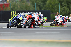 August 5, 2018 - Brno, Brno, Czech Republic - 04 Italian driver Andrea Dovizioso of Team Ducati Racing followed by  46 Italian driver Valentino Rossi of Team Movestar Yamaha MotoGP  93 Spanish driver Marc Marquez of Team Repsol Honda Team,  35 English driver Cal Crutchlow of Team LCR Honda and  9 Italian driver Danilo Petrucci of Team Octo Pramac Racing during race in Brno Circuit for Czech Republic Grand Prix in Brno Circuit , on August 5, 2018. (Credit Image: © Andrea Diodato/NurPhoto via ZUMA Press)