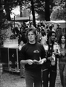 Chris Blackwell back stage at the Crystal Palace Bob Marley Concert 1980