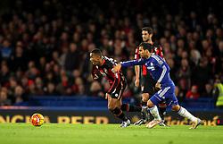 Junior Stanislas of Bournemouth gets past Cesc Fabregas of Chelsea - Mandatory byline: Robbie Stephenson/JMP - 05/12/2015 - Football - Stamford Bridge - London, England - Chelsea v AFC Bournemouth - Barclays Premier League