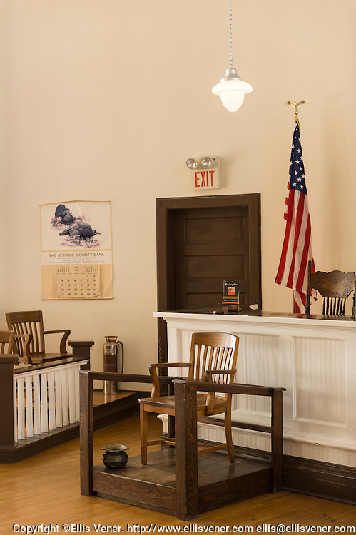 """Courtroom of the Old Monroe County Courthouse in Monroeville, Alabama  the  site  of the trial scenes in """"To Kill A Mockingbird"""""""