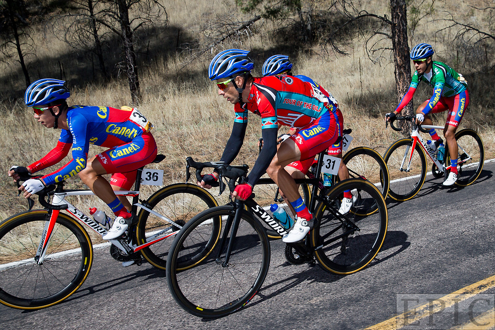 SILVERY CITY, NM - APRIL 19: Oscar Eduardo Snchez Guarn (Canel's-Specialized) during stage 2 of the Tour of The Gila on April 19, 2018 in Silver City, New Mexico. (Photo by Jonathan Devich/Epicimages.us)