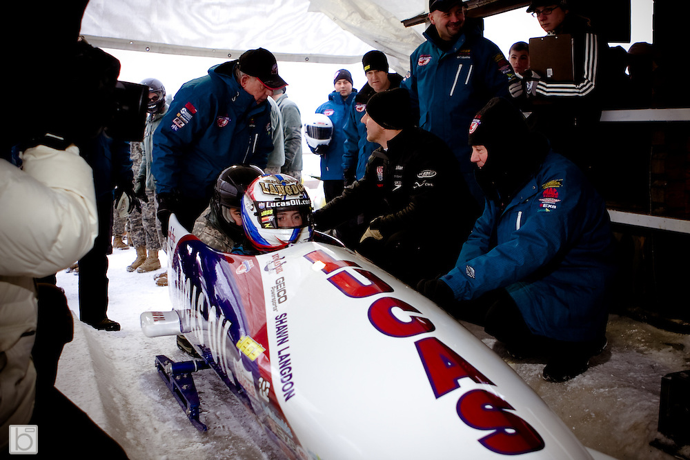The 5th Annual Geoff Bodine Bobsled Challenge ia the Olympic Sports Complex in lake Placid, N.Y. to benefit the Bodyne Bobsled Project which designs and builds the U.S. Olympic Team Bobsleds. (Photo/Todd  Bissonette - www.rtbphoto.com)