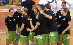 Team Slovenia during friendly match between National teams of Slovenia and Republic of Macedonia for Eurobasket 2013 on July 28, 2013 in Litija, Slovenia. (Photo by Vid Ponikvar / Sportida.com)