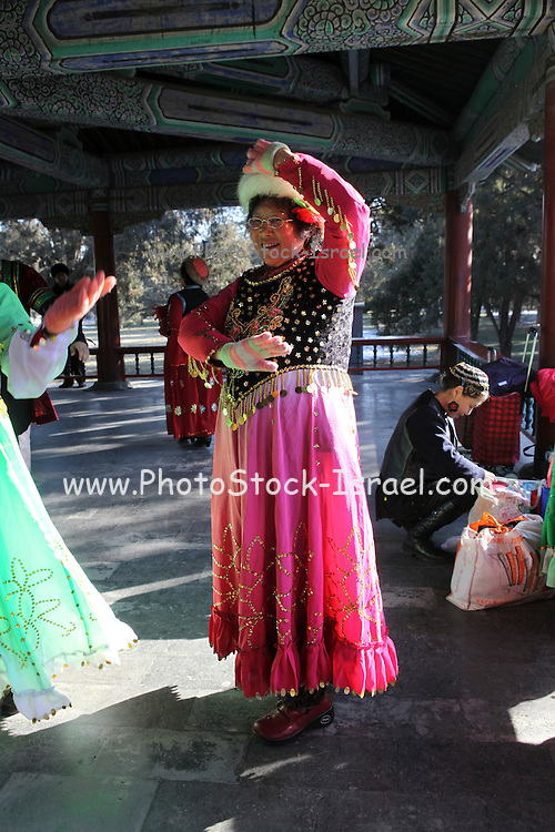 China, Beijing, The Forbidden City Temple of Heaven Traditional Dancers