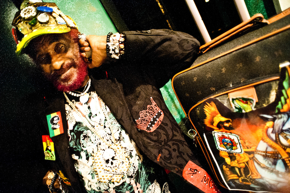 "Lee ""Scratch"" Perry, backstage at the 9:30 Club after his show on December 14, 2009.."