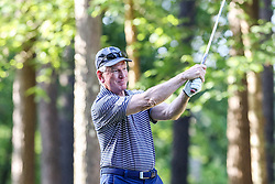 Tommy Tuberville tees off on the 10th hole during the Chick-fil-A Peach Bowl Challenge at the Ritz Carlton Reynolds, Lake Oconee, on Tuesday, April 30, 2019, in Greensboro, GA. (Karl L. Moore via Abell Images for Chick-fil-A Peach Bowl Challenge)